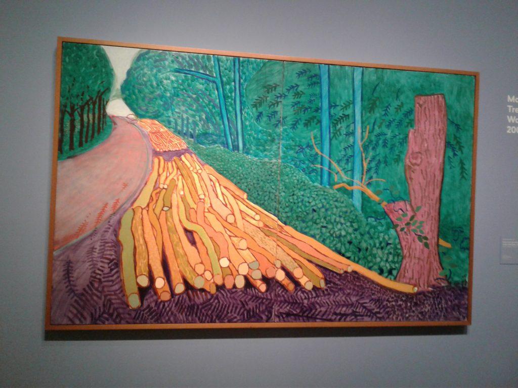 ציור של דיוויד הוקני מתוך התערוכה באמסטרדם